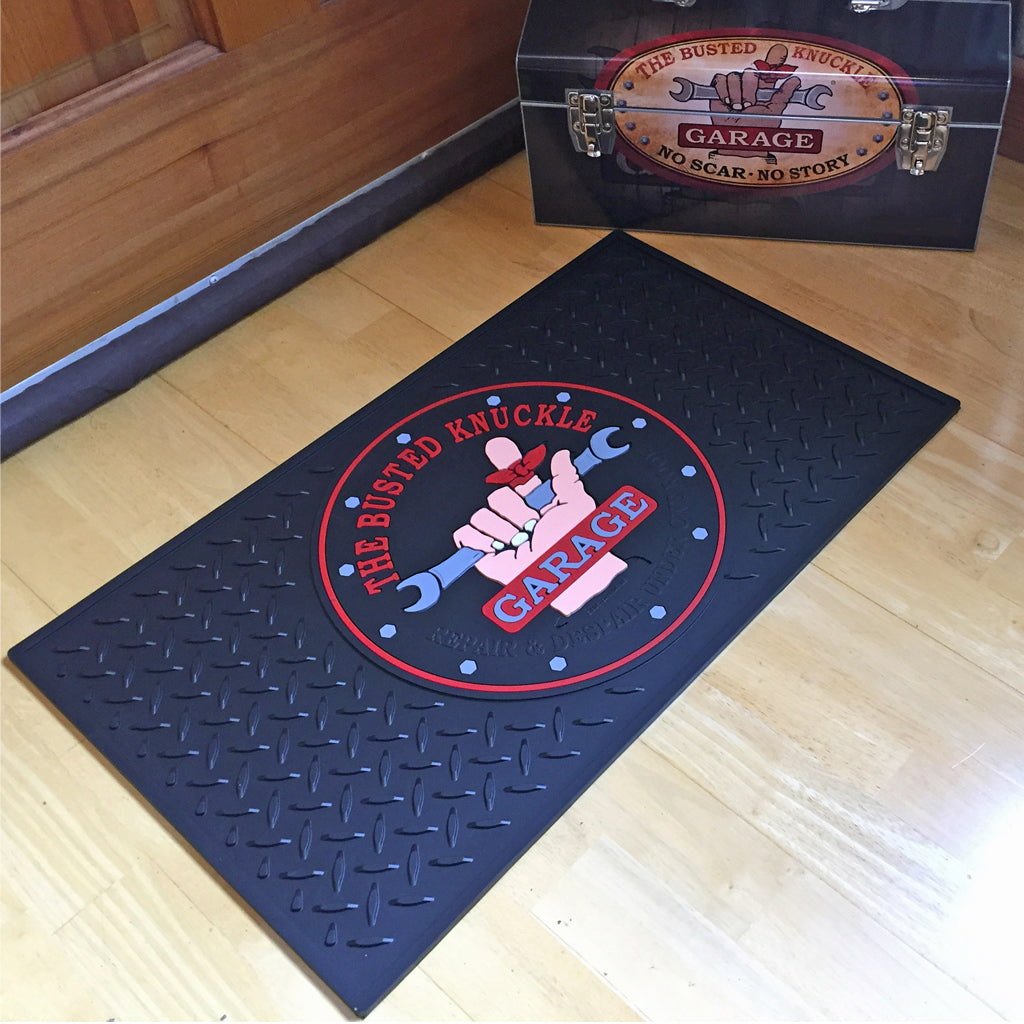 Car Guy Garage Door Mat