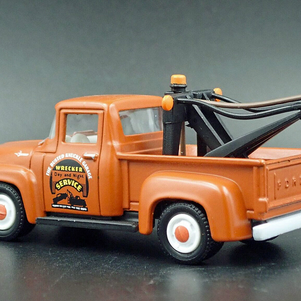 Busted Knuckle Garage Tow Truck Guy 1:64 Scale 1956 Ford Tow Truck Collectible