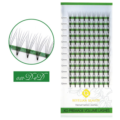 0.07 6D Premade Fan Lashes
