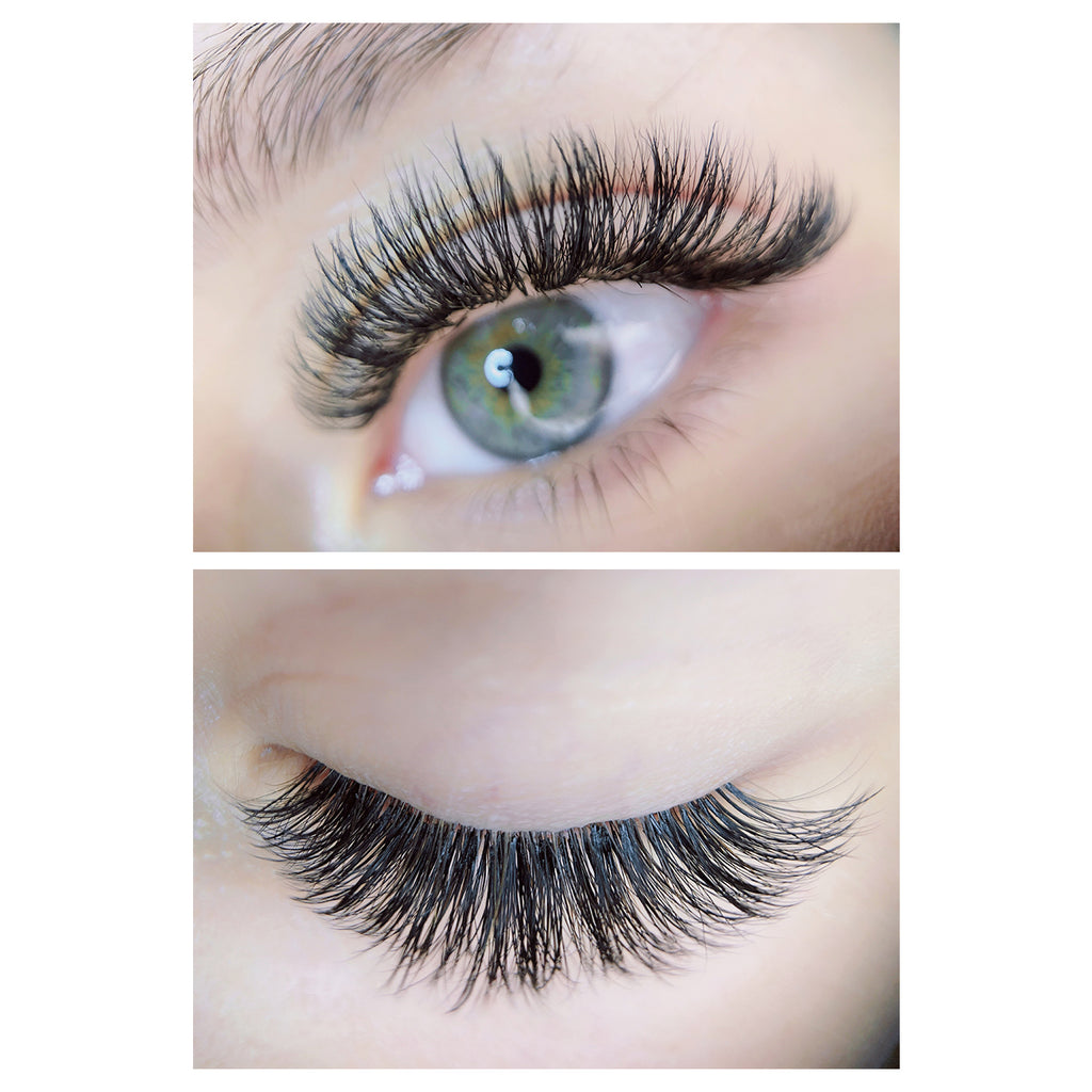 Easy-Fan Hybrid Volume Lash Extensions