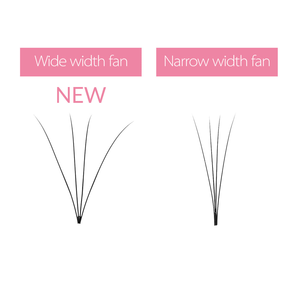 0.07 4D Wider Premade Fan Lashes