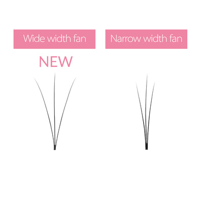 0.07 3D Wider Premade Fan Lashes