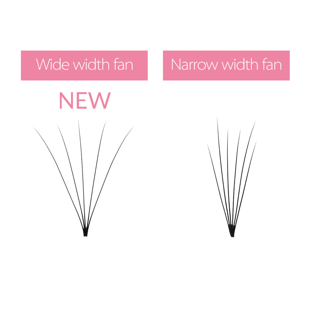 0.07 5D Wider Premade Fan Lashes