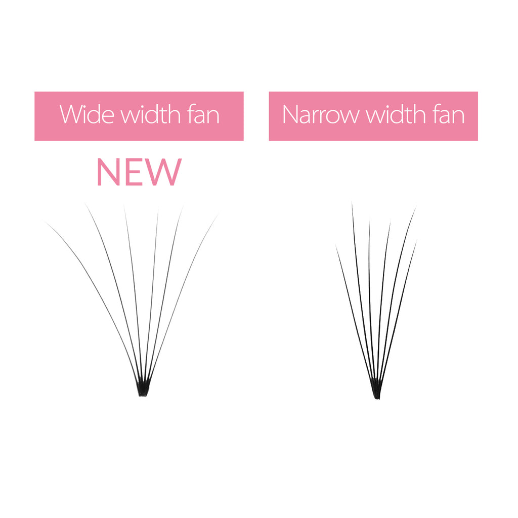 0.07 6D Wider Premade Fan Lashes