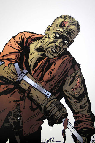 The Walking Dead - Zombie Merle (Signed Print)