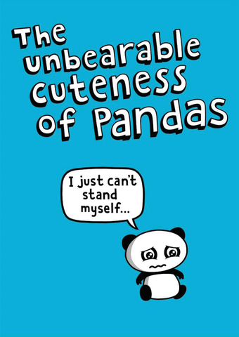 The Unbearable Cuteness of Pandas (Genki Gear T-shirt)