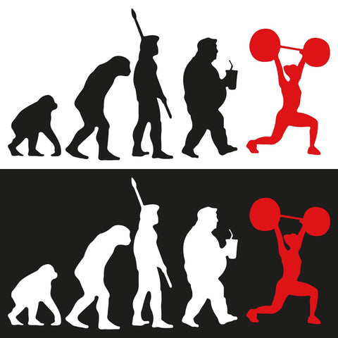 STICKERS CROSSFIT ADESIVI FUNNY STICKERS GYM - EVOLUTION WOMAN