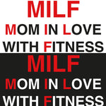 STICKERS CROSSFIT ADESIVI FUNNY STICKERS GYM - MILF