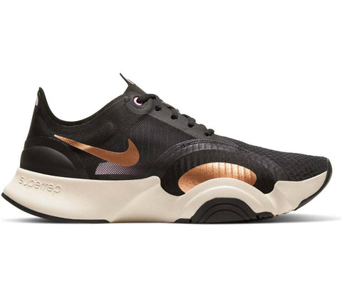 NIKE SUPERREP GO NERA ORO SCARPA DONNA  FITNESS WORKOUT
