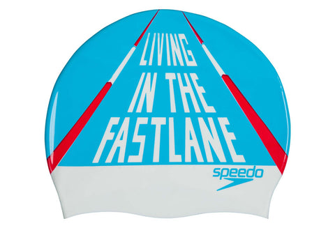 Cuffia LIVING IN THE FAST LANE  in silicone SWIM CAP