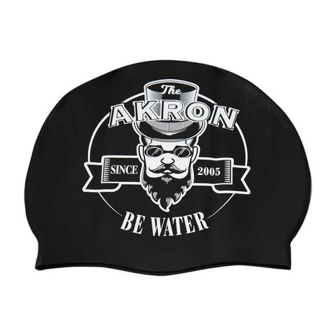 Cuffia AKRON in silicone SWIM CAP BLACK BE WATER