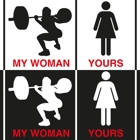 STICKERS CROSSFIT ADESIVI FUNNY STICKERS GYM - MY WOMAN