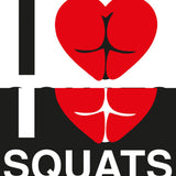 STICKERS CROSSFIT ADESIVI FUNNY STICKERS GYM - I LOVE SQUATS
