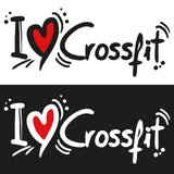 STICKERS CROSSFIT ADESIVI FUNNY STICKERS GYM - I LOVE CROSSFIT