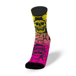 CALZE LITHE FLUO SKULL RUNNING BIKE CROSSFIT SOCKS