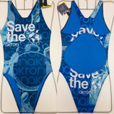 COSTUME DONNA AKRON ITALIA NUOTO PISCINA SAVE THE WATER