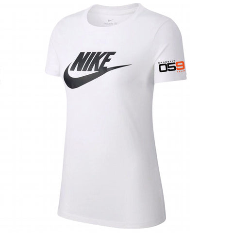 T SHIRT NIKE DRY-FIT DONNA CROSSFIT 059 TEAM MODENA WHITE EDITION