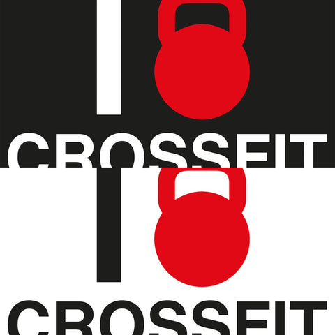 STICKERS CROSSFIT ADESIVI FUNNY STICKERS GYM - I LOVE...
