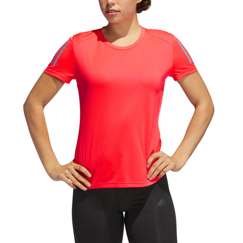 T SHIRT ADIDAS DONNA CLIMACOOL - OWN THE RUN RED SHOCK