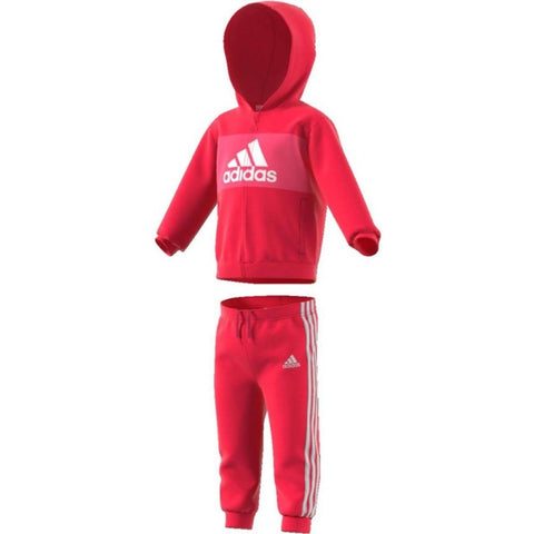 TUTA BIMBA ADIDAS LOGO HOODED BAMBINA - JUNIOR