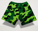 SHORTS TLS UOMO PANTALONCINO TRAINING CROSSFIT WORKOUT GREEN CAMO