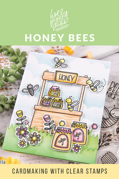 18 Buzzing Ideas for Honey Bee Clear Stamps and Card Making