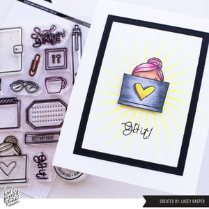 Boss Girl Planner Girl Clear Stamps by Holly Pixels