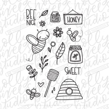 Load image into Gallery viewer, Honey Bees Clear Stamps by Holly Pixels