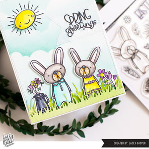 Spring Bunnies Easter Clear Stamps by Holly Pixels
