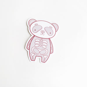 Panda Bones Halloween Skeleton Vinyl Sticker by Holly Pixels