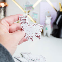 Load image into Gallery viewer, Llama Ballerina Vinyl Sticker by Holly Pixels