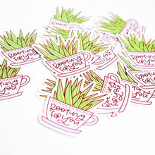 Load image into Gallery viewer, Rooting For You Plant Vinyl Sticker by Holly Pixels