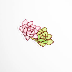 Succulent Plant Vinyl Sticker by Holly Pixels