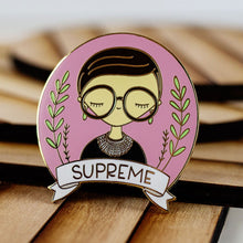 Load image into Gallery viewer, Ruth Bader Ginsberg Enamel Pin Seconds (Color Skin Off)