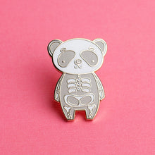 Load image into Gallery viewer, Panda Bones Enamel Pin