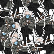 Load image into Gallery viewer, Grumpy Bernie Sticker | Bernie Sanders Sticker | Inauguration Sticker | Die Cut Sticker by Holly Pixels