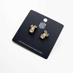 Prickly Cactus Earrings by Holly Pixels