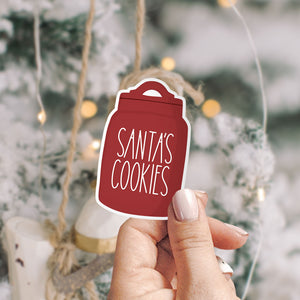 Santas Cookies Rae Dunn Vinyl Sticker by Holly Pixels