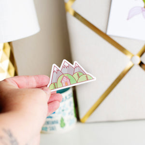 Mountain Life Vinyl Sticker by Holly Pixels
