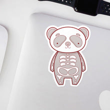 Load image into Gallery viewer, Panda Bones Halloween Skeleton Vinyl Sticker by Holly Pixels