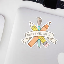 Load image into Gallery viewer, Don't Hate Create Artist Vinyl Sticker by Holly Pixels