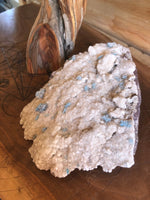 Blue Cavansite on White Heulandite