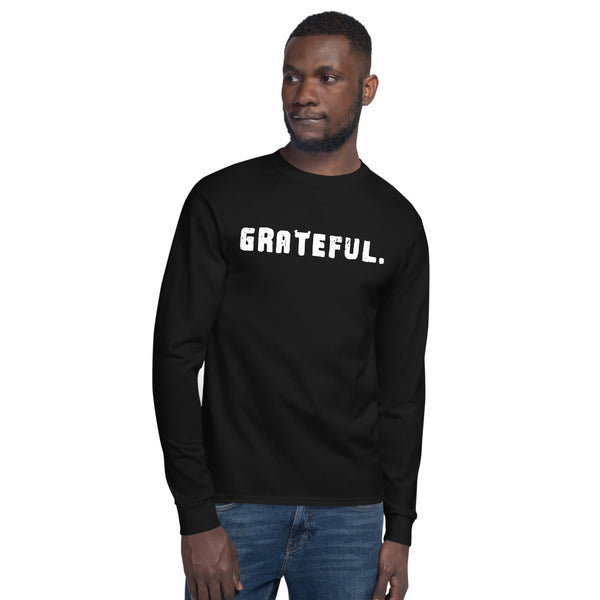 'GRATEFUL.' Men's Champion Long Sleeve Shirt