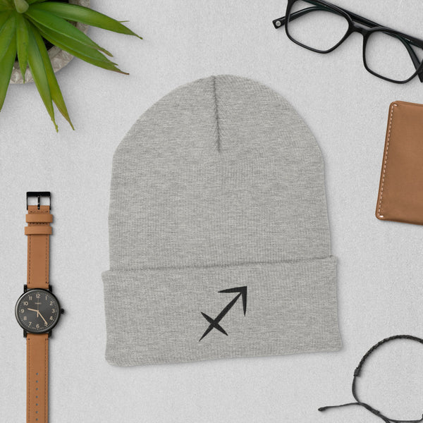 Sagittarius Sign Cuffed Beanie