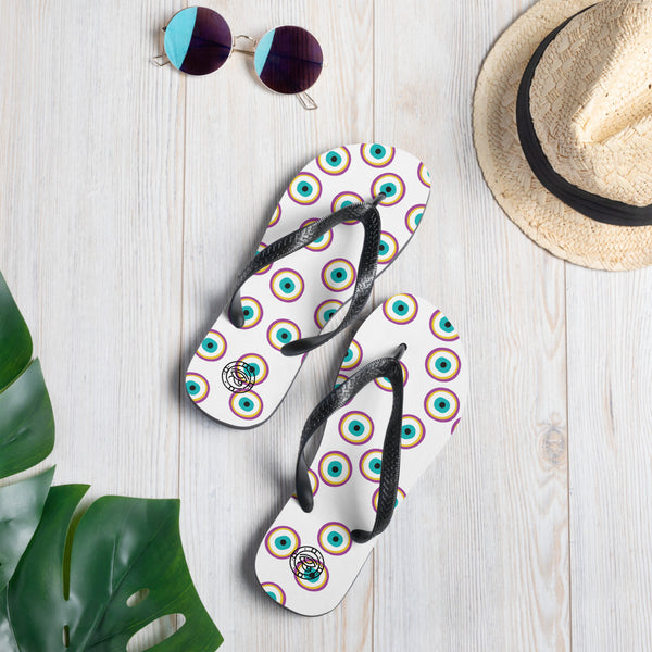 Purple Evil Eye Flip-Flops