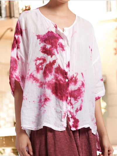 Holiday abstract floral casual wild shirt