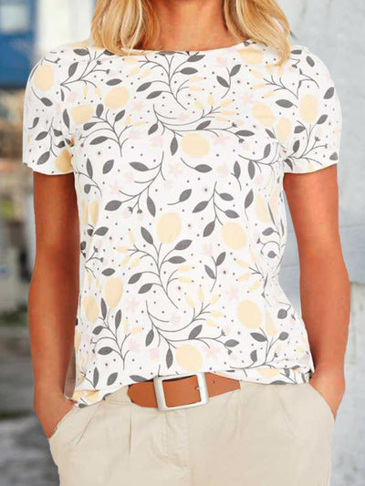 Floral Casual Short Sleeve Floral-Print Shirts & Tops