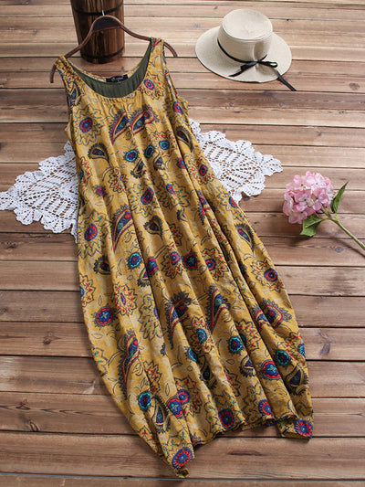 Plus Size Floral Women Shift Daily MIdi Dresses
