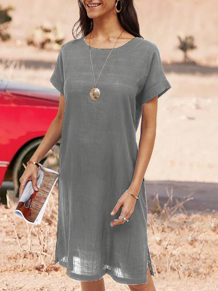 Plain Casual Soft Dresses