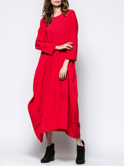 Women Daytime Casual Cotton  Solid Casual Dress